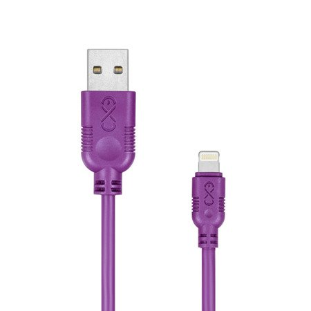 Kabel USB - Lightning eXc WHIPPY 0.9m fioletowy