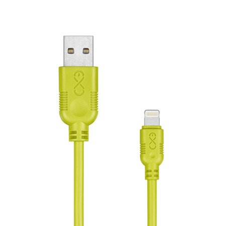 Kabel USB - Lightning eXc WHIPPY 0.9m zielony